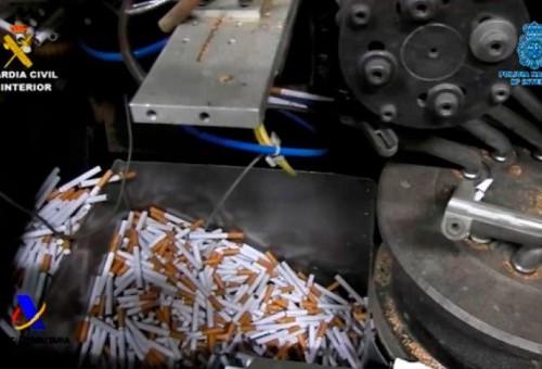Desmanteladas 3 fábricas ilegales de tabaco con capacidad para producir más de 18.000 cigarrillos por minuto